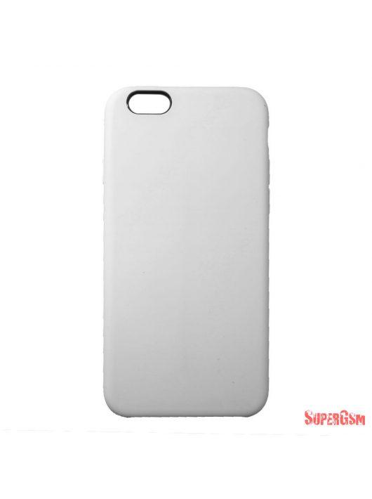 Premium szilikon tok, iPhone 8 Plus/7 Plus,Fehér